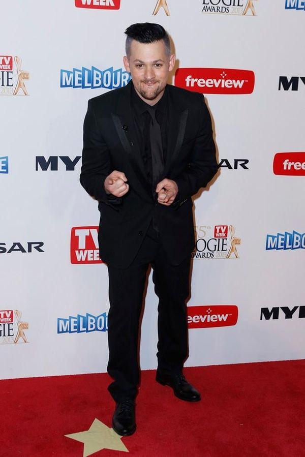 Joel Madden arrives at the 2013 Logie Awards
