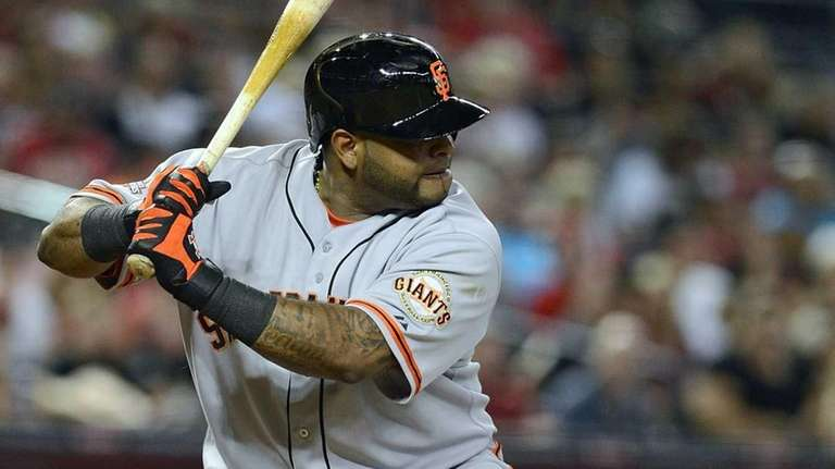 Pablo Sandoval of the San Francisco Giants bats