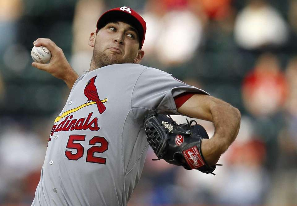 Michael Wacha of the St. Louis Cardinals delivers