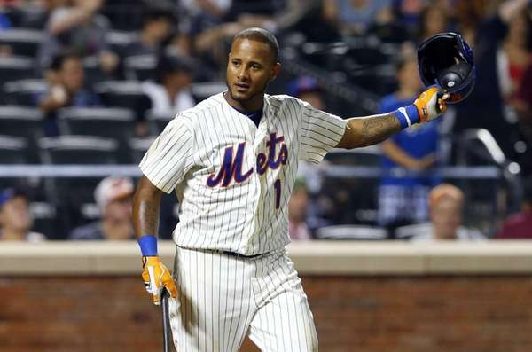 Jordany Valdespin of the Mets strikes out to