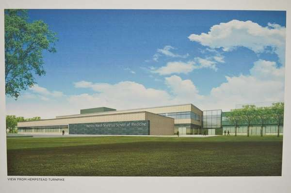 An artist's rendering of the new building is