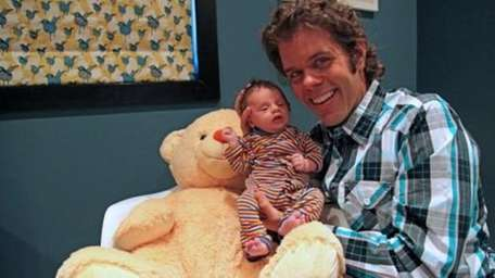 Celebrity blogger Perez Hilton became a father when