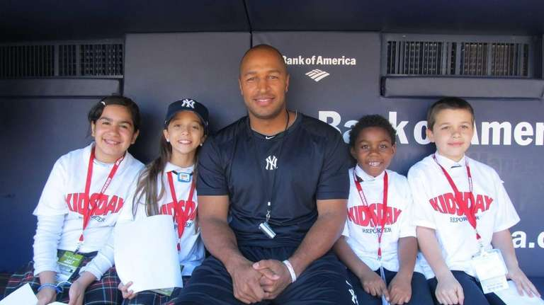New York Yankees outfielder Vernon Wells in the