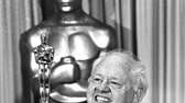 Actor Mickey Rooney with his honorary Oscar for
