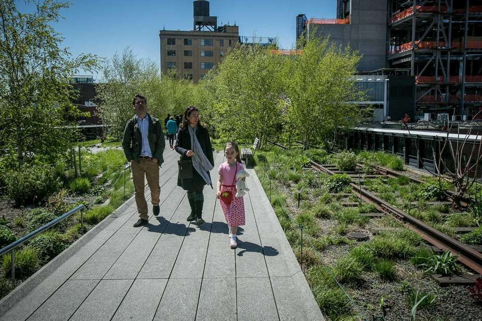 The High Line in Manhattan's Meatpacking District is