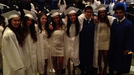 North Shore Hebrew Academy High School seniors gather