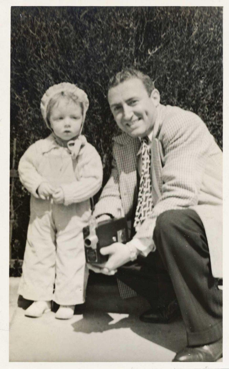 "Emily Schreiber with her father, ""Manny"" Kleinman in"