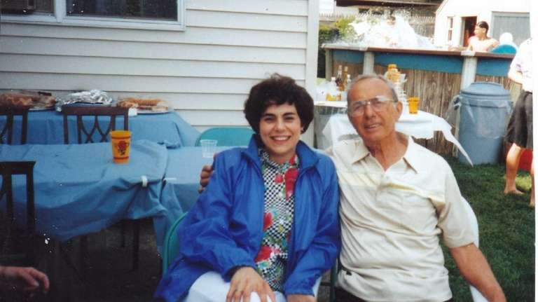 Jo Solomito Haslam with her father, Andrew Solomito,