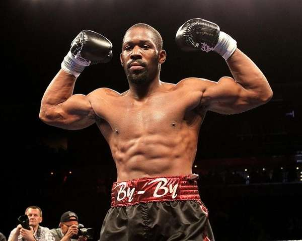 Philadelphia heavyweight boxer Bryant Jennings poses after his