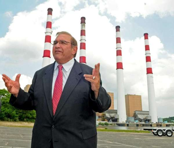 Town of Huntington supervisor Frank Petrone fields questions