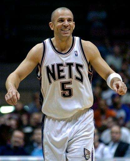 Jason Kidd reacts during the fourth quarter of