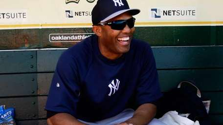 Mariano Rivera of the Yankees smiles in the