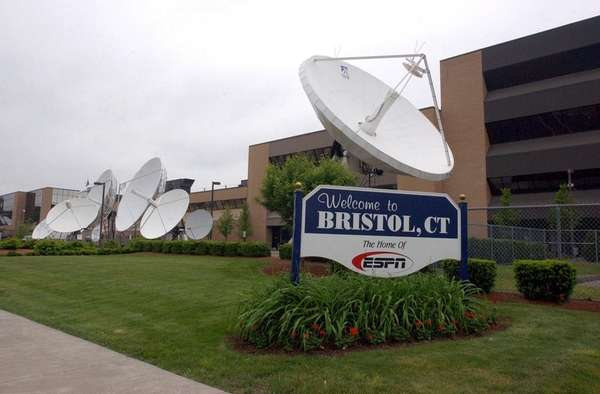 The ESPN headquarters in Bristol, Conn., is shown