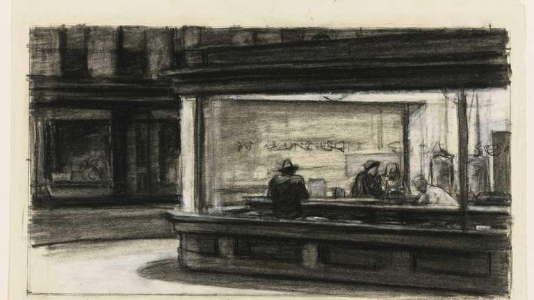 Edward Hopper's study for the painting