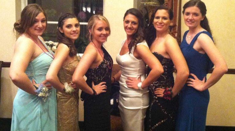 From left, Grace Hall, Liza Foley, Emily Clark,