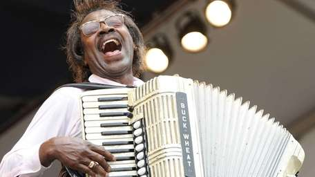 Buckwheat Zydeco performs at the 2010 New Orleans