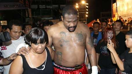 Former heavyweight boxing champion Riddick Bowe of the
