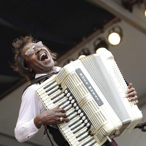 American accordionist Buckwheat Zydeco (a.k.a. Stanley Dural, Jr.)