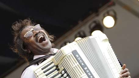 American accordionist Buckwheat Zydeco (a.k.a. Stanley Dural, Jr.)