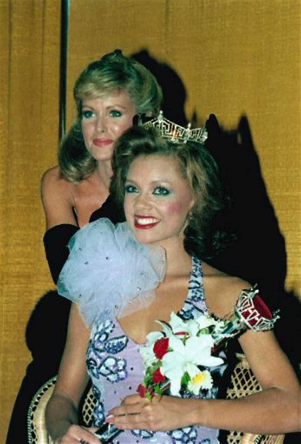 Vanessa Williams is crowned Miss America 1984 in