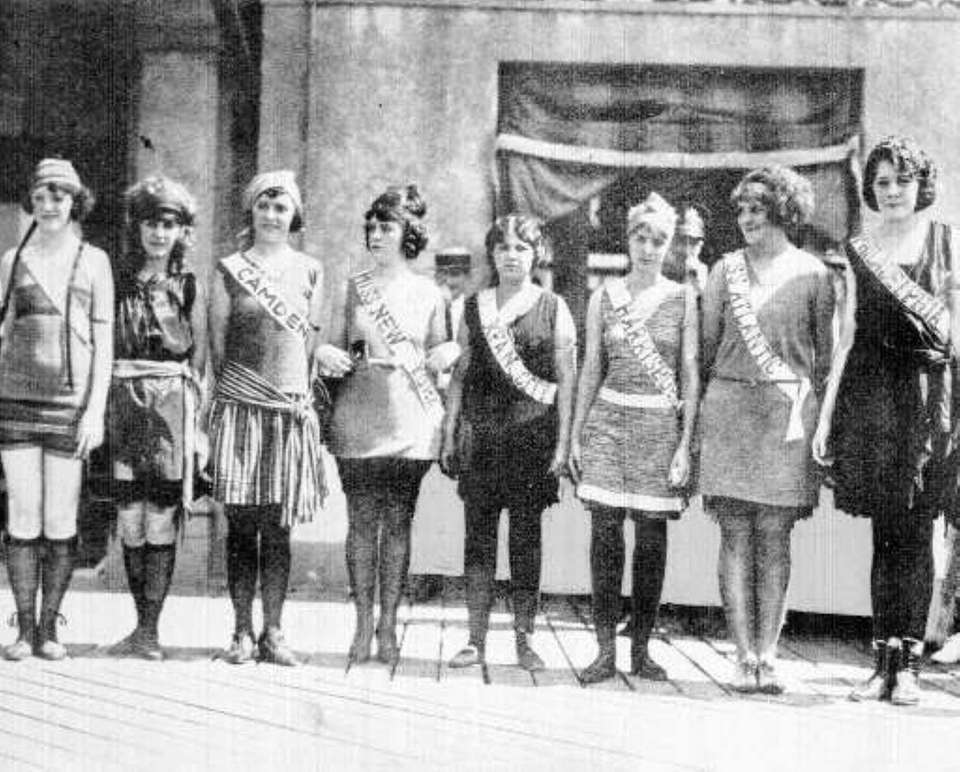 Contestants in the first Miss America pageant in