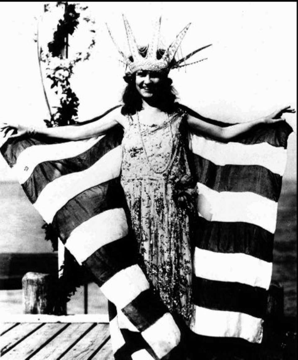 Margaret Gorman after being crowned the first Miss