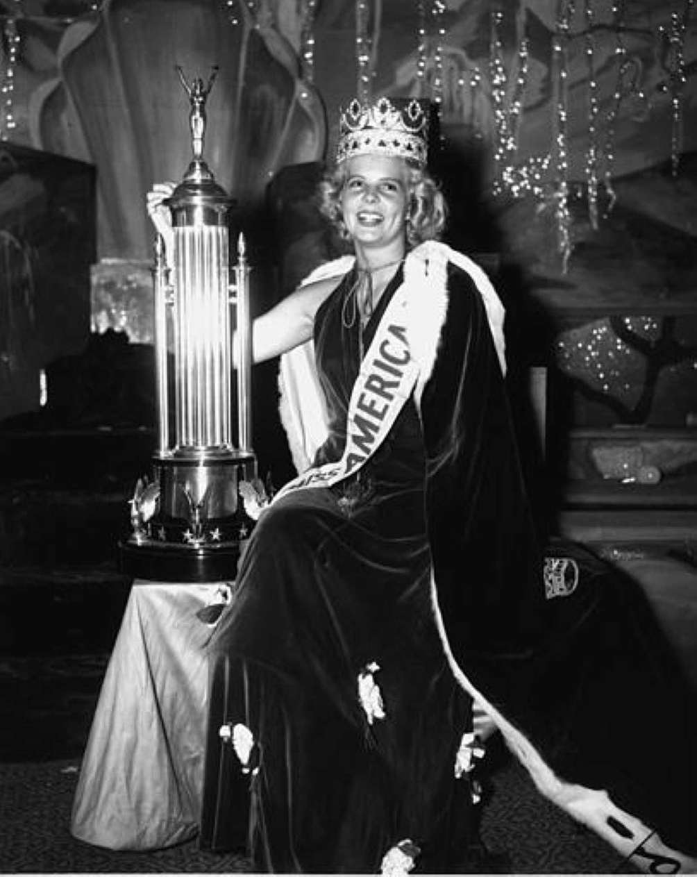 Bette Cooper after being crowned Miss America in