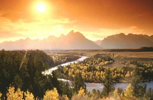The Snake River at Sunset in Grand Teton