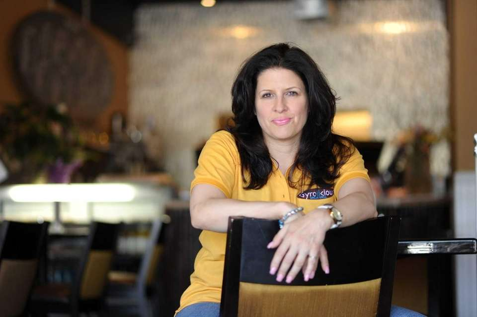 Owner Carie Volonakis at Gyrolicious in Jericho. (June