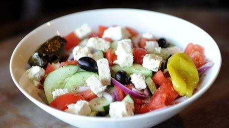 Horiatiki salad is a big hit at Gyrolicious