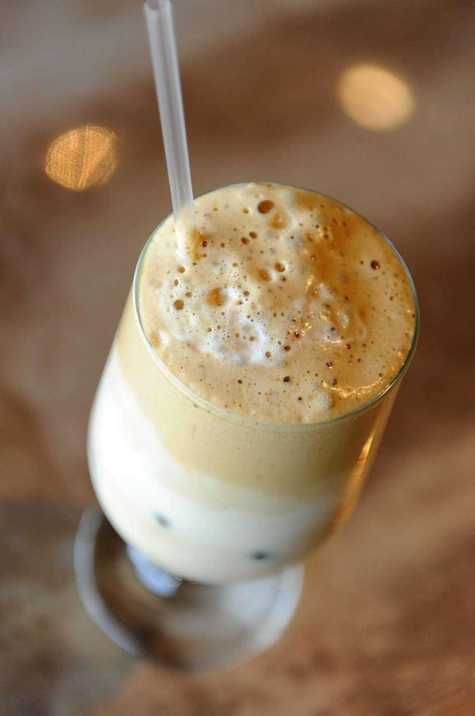 Greek-style iced coffee is served in the summer
