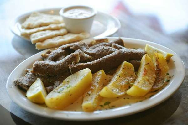 House-made gyro lamb is served at Gyrolicious in