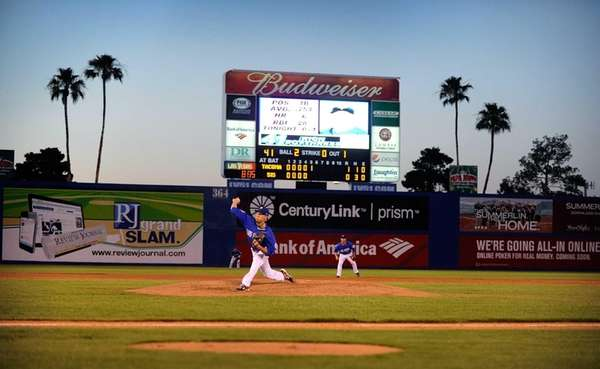 Las Vegas 51s pitcher Zack Wheeler delivers to