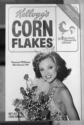 Packages of Kellogg's Corn Flakes featured Miss America