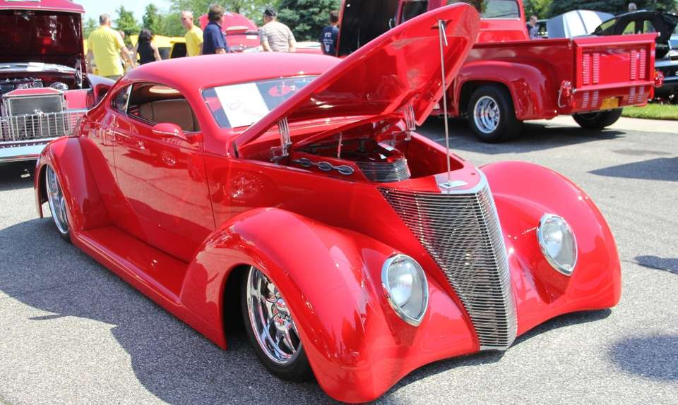 A 1937 Ford Coupe owned by Steve and