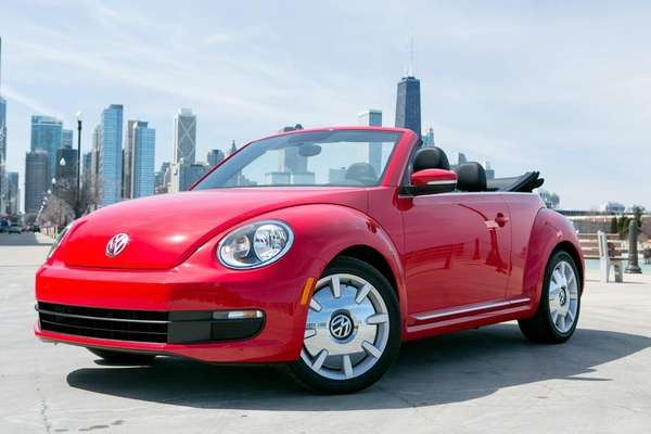 The 2013 Volkswagen Beetle convertible sports a stylish
