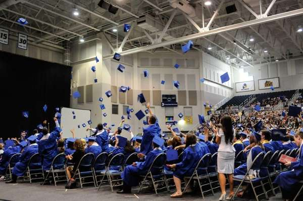 Members of the Class of 2013 celebrate their