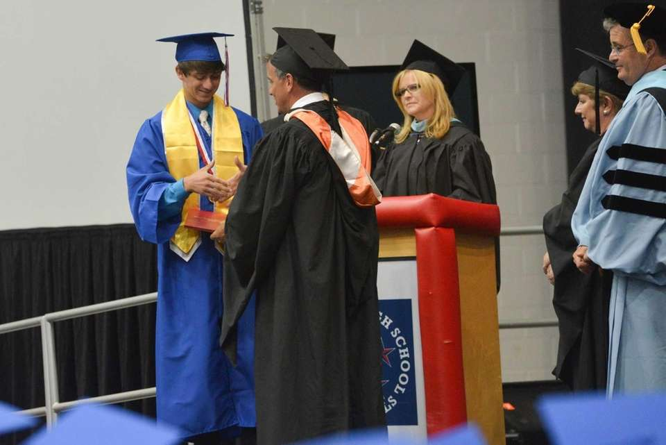 Mike Pappas, president of the Levittown school board,