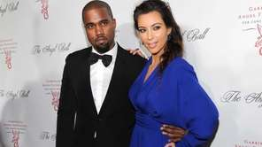 Kanye West and Kim Kardashian attend Gabrielle's Angel