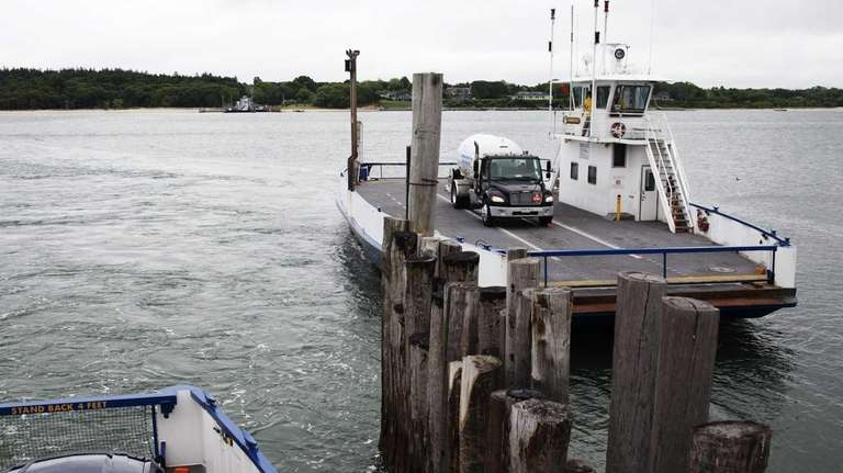 South Ferry passengers arrive at Shelter Island in