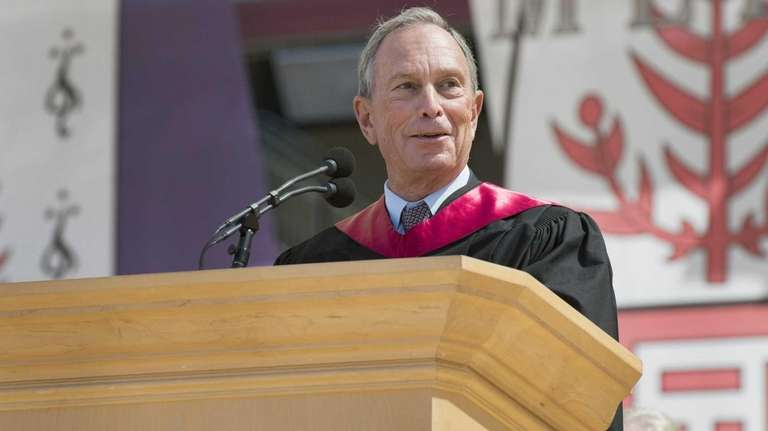 Mayor Michael Bloomberg delivers the 2013 Commencement address