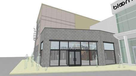 A rendering of the Urban Outfitters store planned