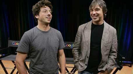 Google co-founders Sergey Brin, left, and Larry Page