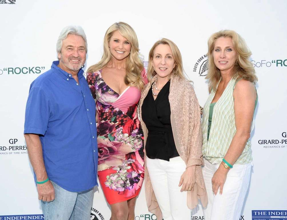 Wally Zeins, Christie Brinkley, Susan Rockefeller, and Alison