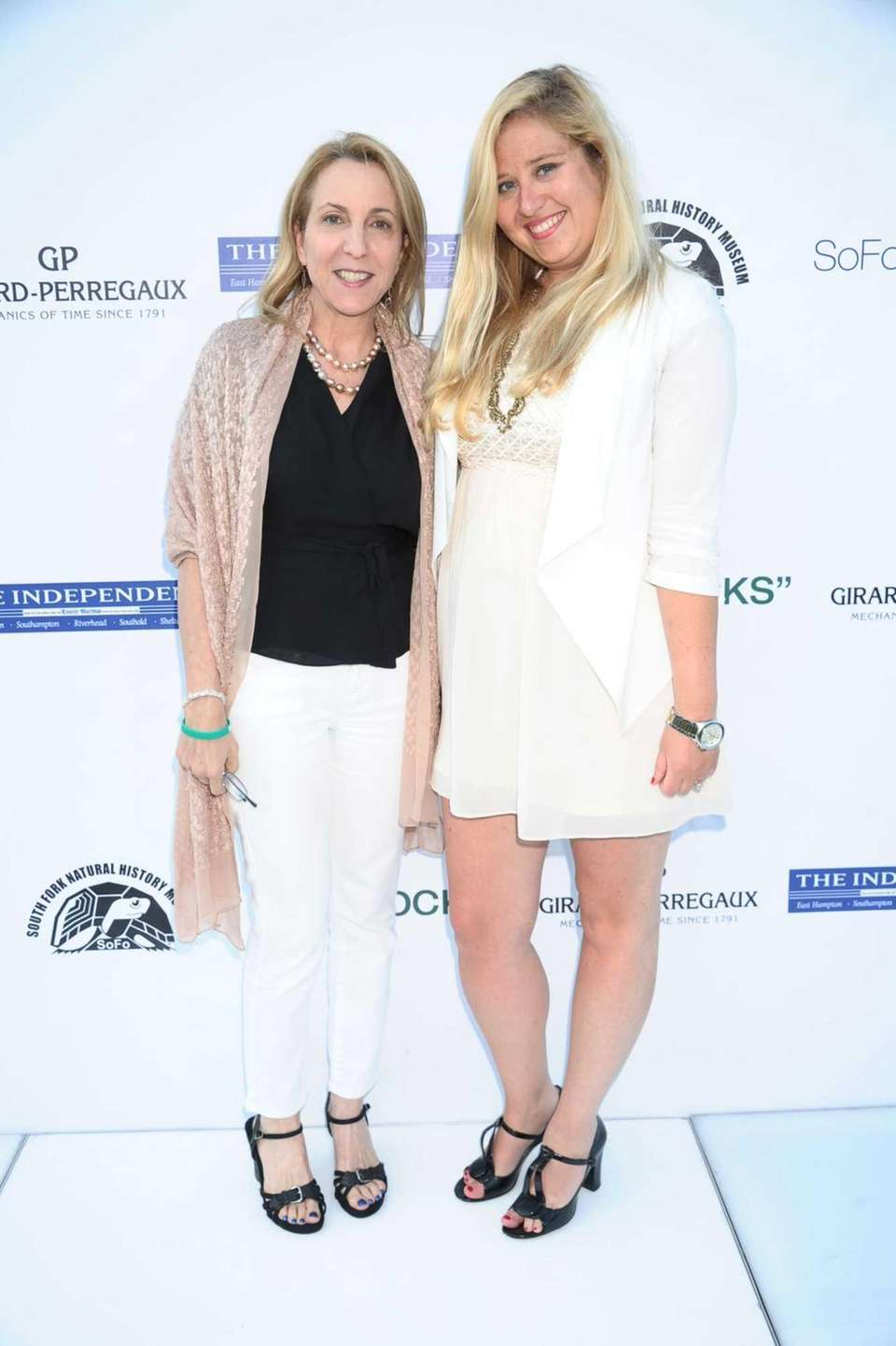 Susan Rockefeller and Jessica Mackin attend the SOFO
