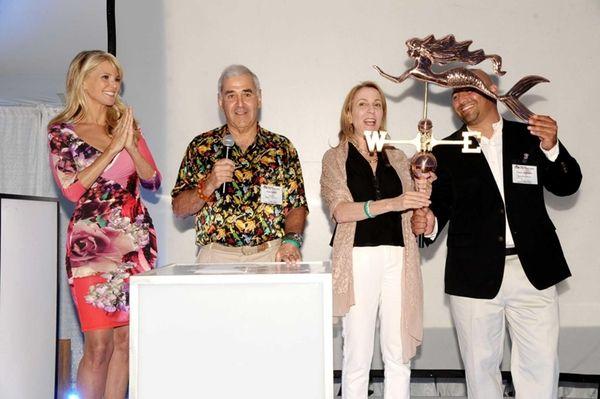 Christie Brinkley, Andy Sabin, Susan Rockefeller, and Frank