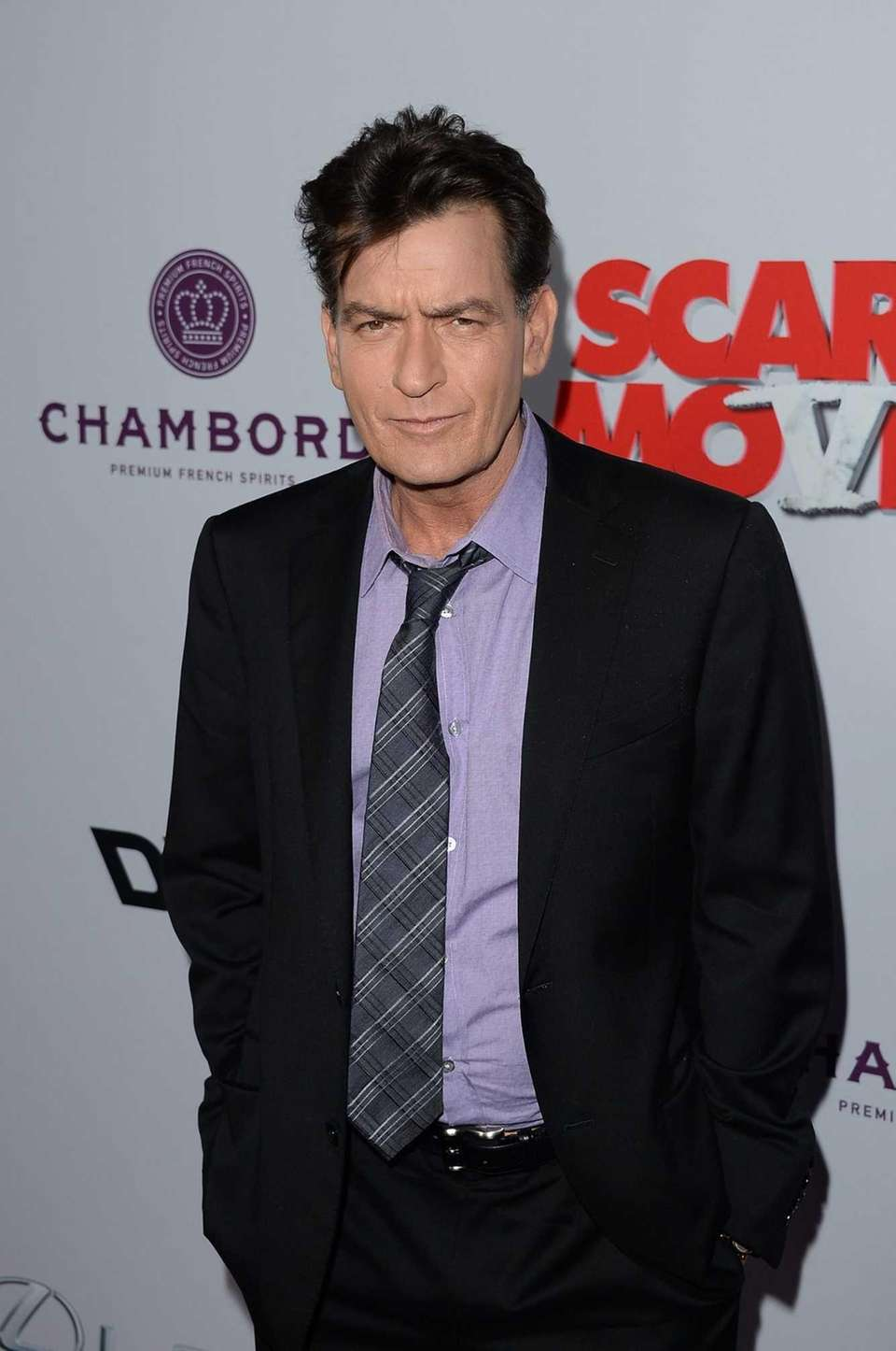 Charlie Sheen arrives at the