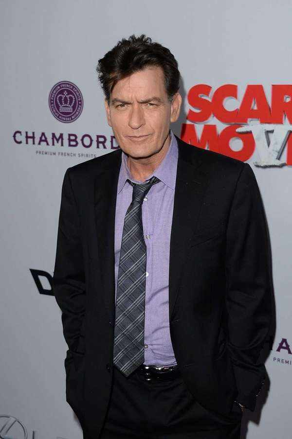 Actor Charlie Sheen arrives for the