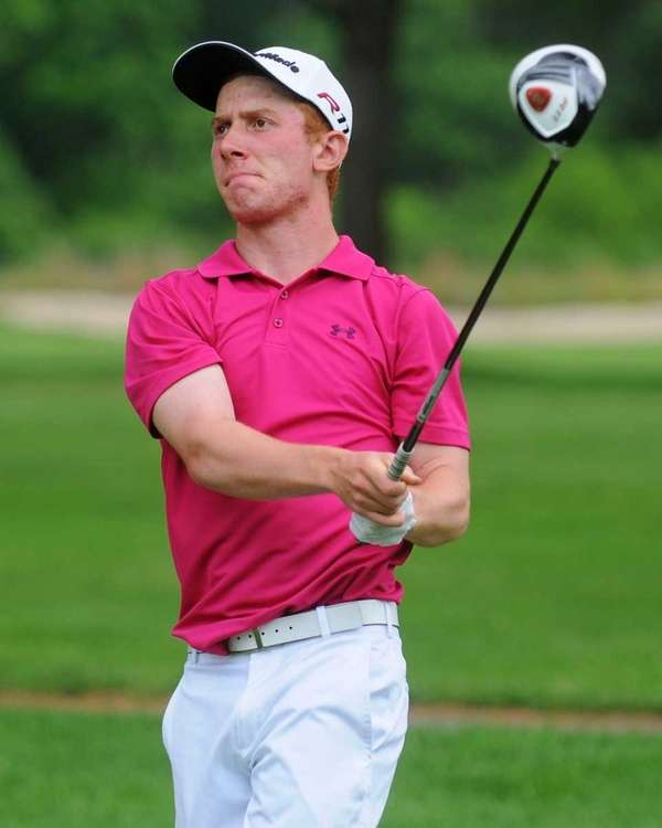 Matt Lowe of Farmingdale tees off on the