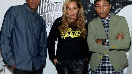 Jay-Z, left, and Pharrell, right, collaborated on the